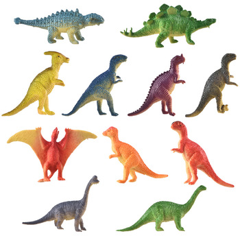 цены Simulation dinosaur model toy plastic small dinosaur toy accessories educational toy model