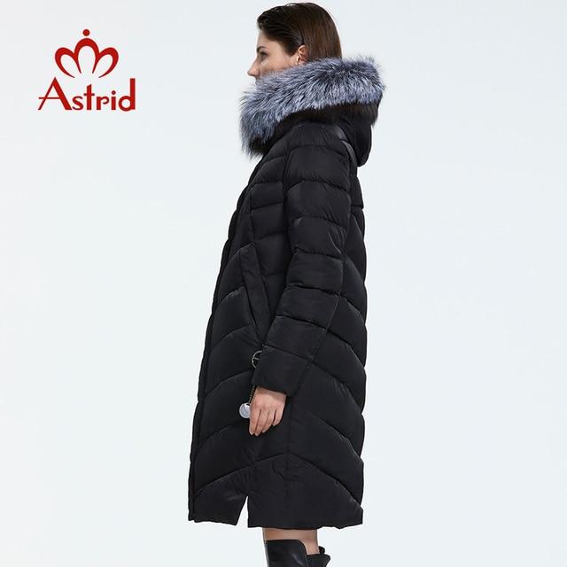 Astrid 2019 hiver nouveauté doudoune femmes avec un col en fourrure vêtements amples vêtements d'extérieur qualité femmes hiver manteau FR-2160 3