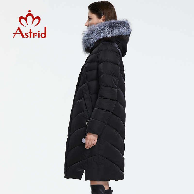 אסטריד 2019 חורף הגעה חדשה למטה מעיל נשים עם פרווה צווארון רופף בגדי הלבשה עליונה באיכות נשים חורף מעיל FR-2160