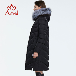 Image 3 - Astrid 2019 Winter Nieuwe Aankomst Down Jas Vrouwen Met Een Bontkraag Losse Kleding Bovenkleding Kwaliteit Vrouwen Winter Jas FR 2160