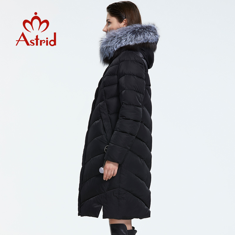 Astrid 2019 Winter new arrival down jacket women with a fur collar loose clothing outerwear quality