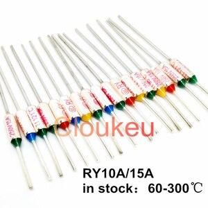 RY/Tf Metal temperature fuse 10A/15A250V 153/155/157/160/165/167/169/170/172/175/180/184/185/188/190/192/195/200/205C(China)