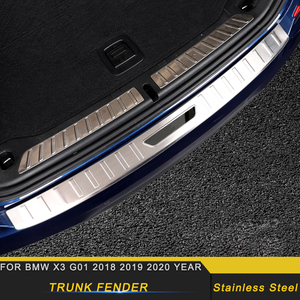 Car Accessories Tailgate Trunk Door Fender Bumper Plate Pad Cover Frame Sticker Trim Decoration for BMW X3 G01 2018 2019 2020