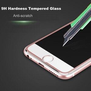 Image 5 - Suntaihoフルカバーiphone 7 7プラス3D湾曲縁合金金属フレーム強化ガラス7 8 6s 6プラス