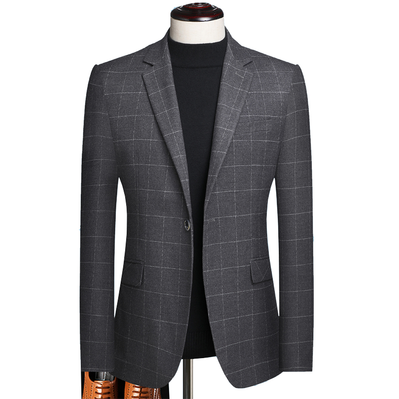 Plus Size 5xl Single Breasted Men Blazers And Jackets Good Quality Plaid Men Blazers For Wedding