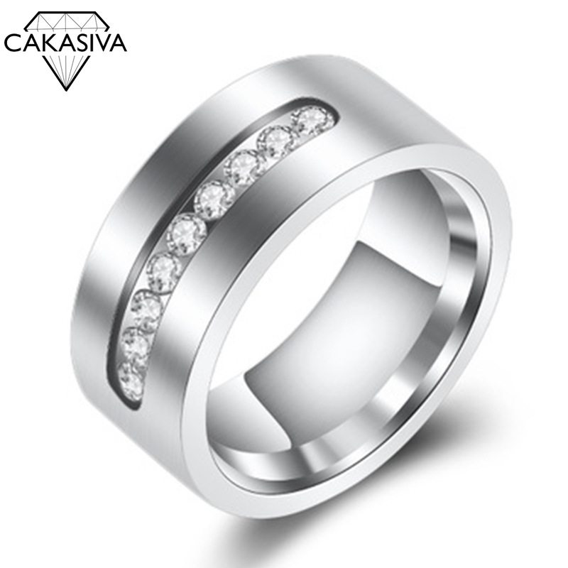 Men's Simple Zircon Ring Engagement Banquet Birthday Gift Jewellery Silver 925 Ring