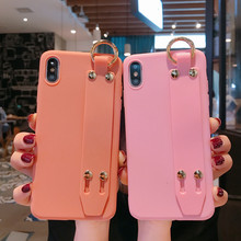Wrist Strap Phone Case For iphone 11 11Pro Max XS XR case Candy Color Cover Iphone 8 7 Plus X 6 6S With Wristband