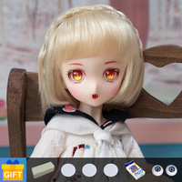 SQ Lab Ren Chibi cartoon doll bjd quadratic element 1/6 movable joint fullset complete professional makeup for girl Toys Gifts
