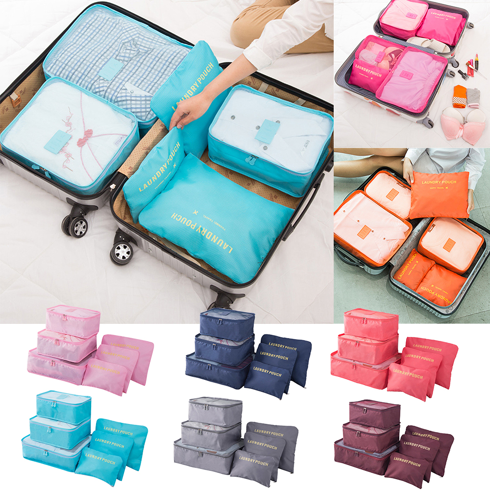 Pouch Luggage-Clothing Organizers Underwear Storage Suitcase Wardrobe Finishing-Bag 6pcs/Set title=