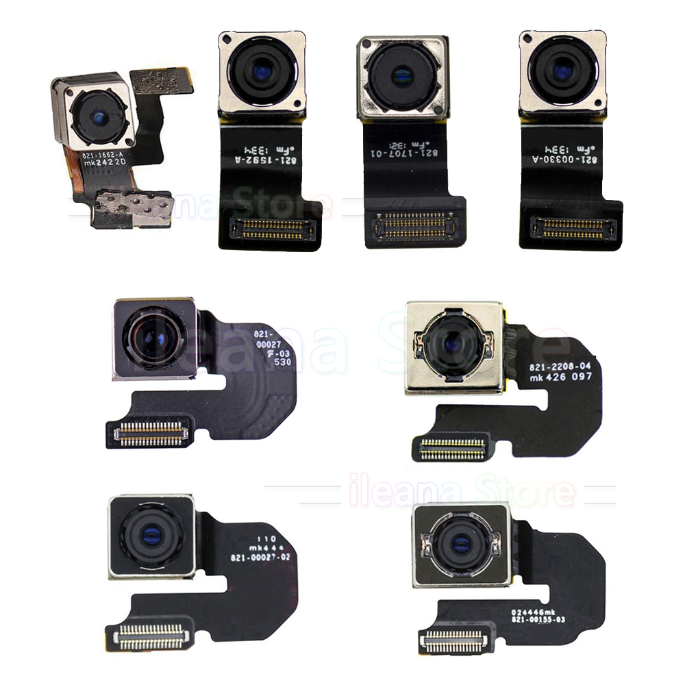 Galleria fotografica Original Main Back Camera For iPhone 5s SE 5c 5 Back Rear Camera Flex Cable For iPhone 6 6s Plus Repair Parts