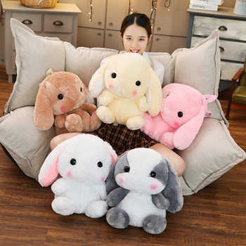 Lop Plush Backpack Adorable Stuffed Bunny Backpack Long Ears Rabbit Animals Backpack Kids Girls Shopping Bag Schoolbag 45cm - SALE ITEM - Category 🛒 Toys & Hobbies