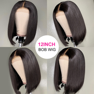 Image 5 - Perruque Lace frontal lisse indienne ressine Hair, cheveux humains, avec Closure 4x4, pre plucked avec Baby HAIR, 13x4