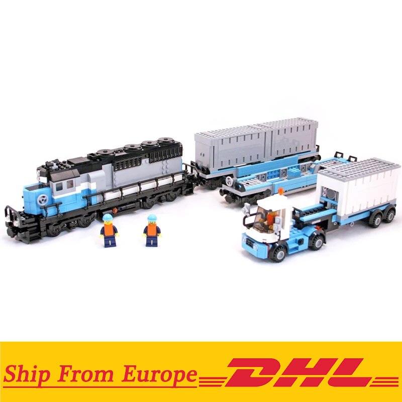 1234pcs ชุดเทคโนโลยี Maersk Train Legoings Blocks ชุดของเล่น DIY การศึกษาเด็กคริสต์มาสของขวัญ-ใน บล็อก จาก ของเล่นและงานอดิเรก บน   1