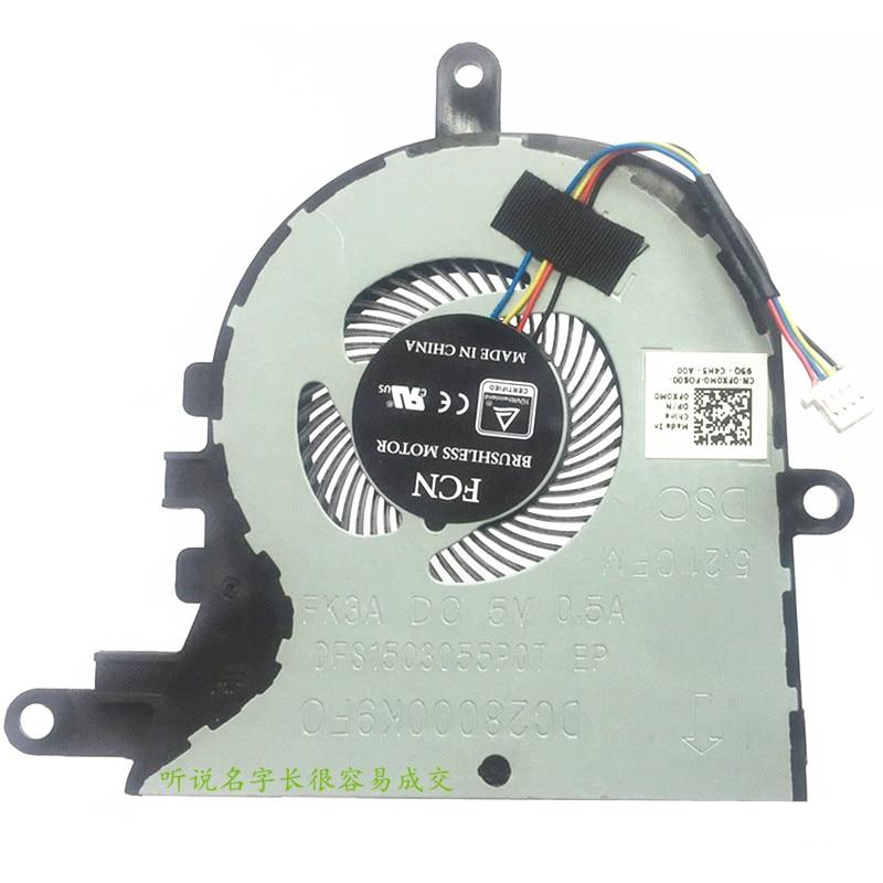 New CPU Cooler Fan For Dell Latitude 3590 E3590 L3590/ Inspiron 15-5570 15-5575 FX0M0 0FX0M0 CN-0FX0M0 0FGCF7  5V 0.5A Radiator
