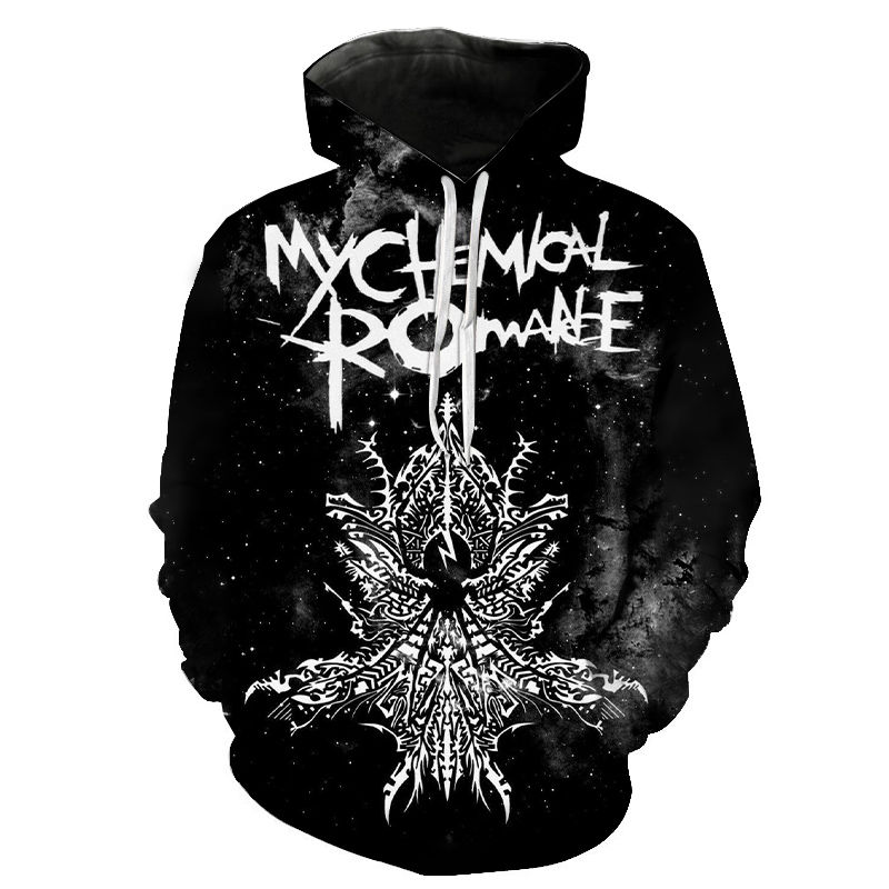 My Chemical Romance Hoodies Men Women Black Parade Punk Emo Rock Hoodie 3D Sweatshirt Hip Hop Jacket Coat Streetwear Clothes