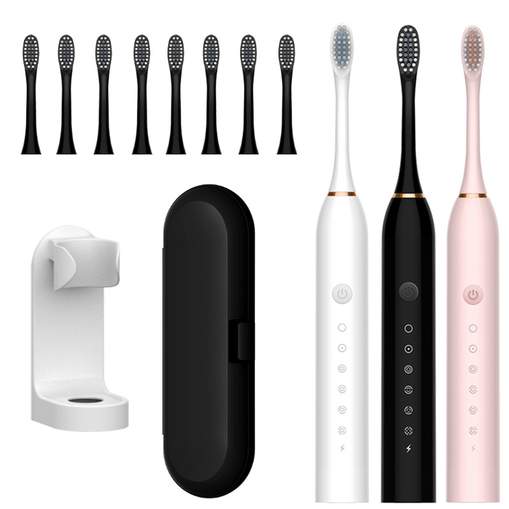 Sonic Electric Toothbrush USB Rechargeable 42000 time/min Ultrasonic Electronic Whitening Teeth Brush 6 Mode with Travel Box