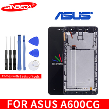 Original 6.0LCD For ASUS Zenfone6 A600CG LCD Display Touch Screen Digitizer with Frame Assembly For ASUS A600CG LCD Replacement цена