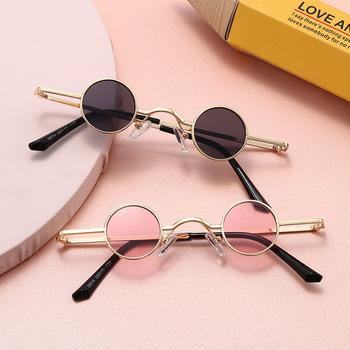 2020 okulary przeciwsłoneczne dla dzieci chłopcy marka dzieci okrągłe okulary przeciwsłoneczne dla dziewczynek dziecko gogle UV400 okulary dziecko odcienie Retro (2) tanie i dobre opinie MOSILIN Dziewczyny ALLOY 28mm Akrylowe