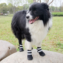 Hot sale pet dog shoes sport outdoor casual Dog Boots for Medium Large Dogs paw protector Reflective Shoes
