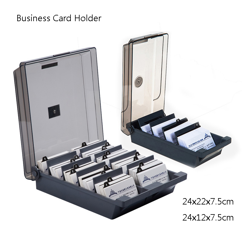 Large Capacity Business Card Storage Box Business Card Holder For Desk Storage Up To 500 Cards