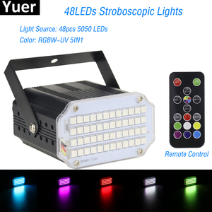2019 High Qualtiy 48LEDs SMD 5050 Led Strobe Light Rotating Voice Activated LED Stage Lights Party Festa Disco Stroboscope Bulb