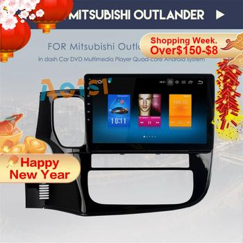 top quality 10.2Android 8.0 tape recorder Car DVD GPS for MITSUBISHI OUTLANDER 2014-2017 headunit video player Radio Stereo rds image