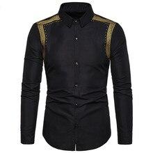 Beaux chemises noires hommes chemise musulmane mode Musulman Blousees Slim manches longues Cardigan robe chemise marocaine vêtements islamiques