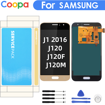 Can Adjust Brightness LCD For Samsung Galaxy J1 2016 J120 J120F J120H J120M LCD Display Touch Screen Digitizer Assembly