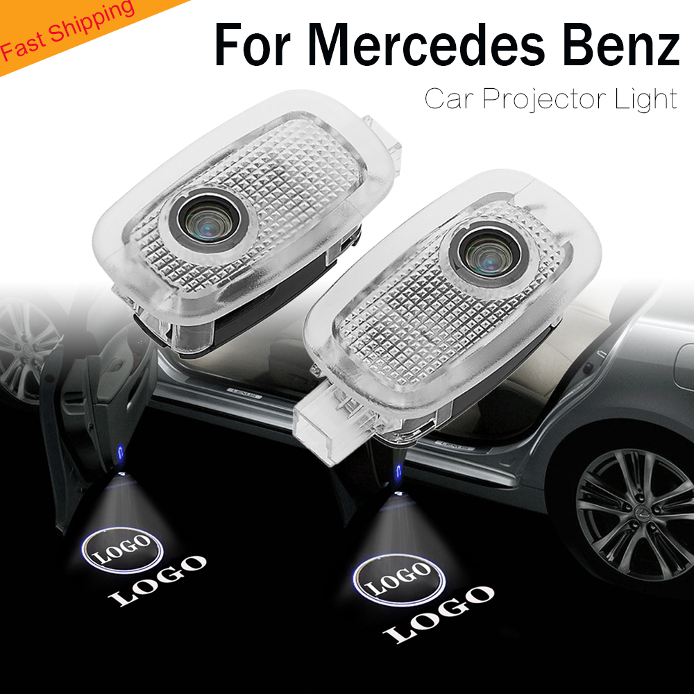 For car logo Projector <font><b>light</b></font> led door welcome lighting lamp auto Accessories for Mercedes <font><b>Benz</b></font> AMG <font><b>W221</b></font> S Class S500 S350 S63 image