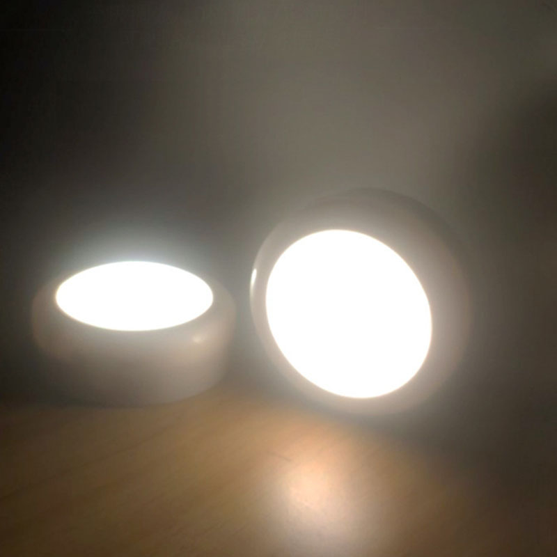 Wireless LED Puck Lights Under Cabinet Kitchen Lighting With Remote Control JA55