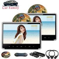 Car DVD Player 2PCS 11.6 Inch Digital IPS Touch Button HD 1080P Video Support HDMI/FM/IR/USB/SD/Game Car Headrest Monitor