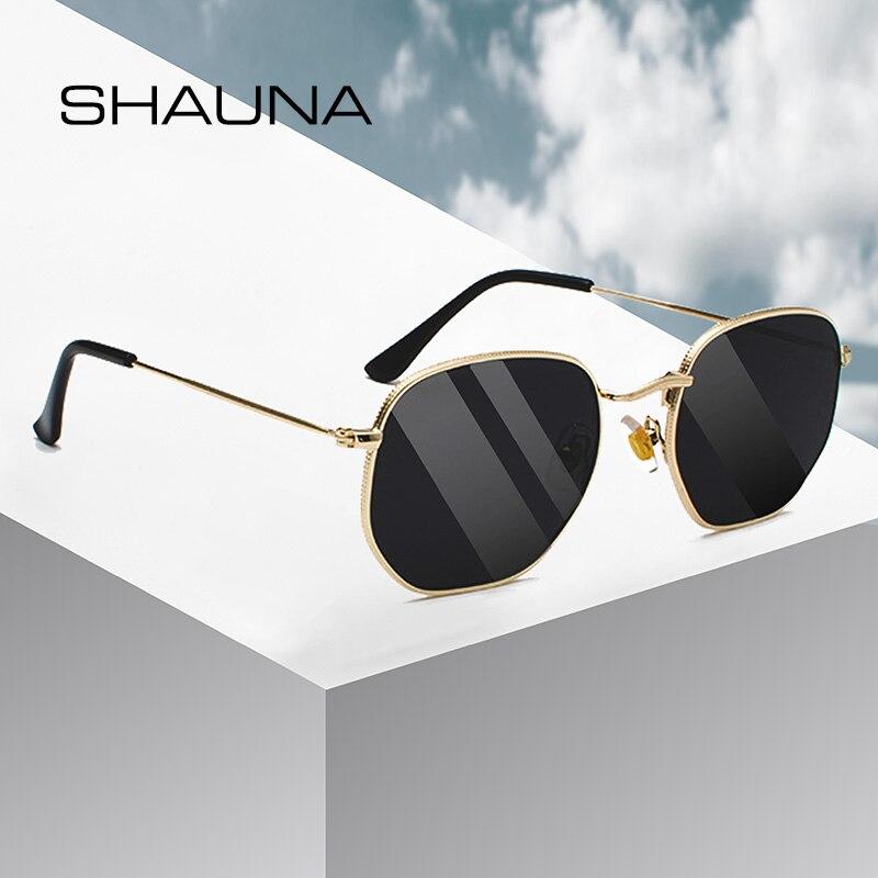 SHAUNA Retro Women Square Sunglasses Classic Men Glasses Frame