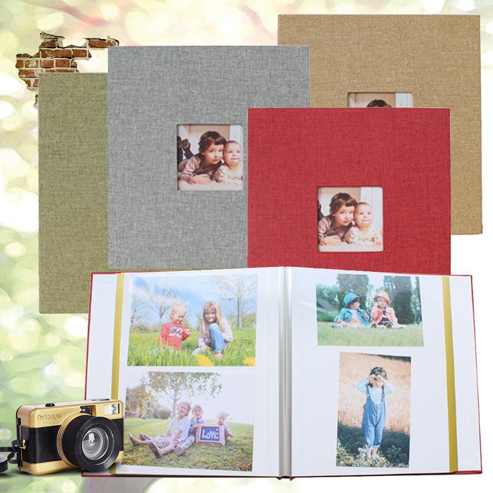DIY Album Retro Innovative Gift Film Self-Adhesive Baby Album Parent-child Album Linen Material BOPP Transparent Film