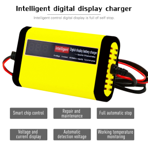 Image 2 - 12V 2A LCD Display Smart Motorcycle Car Battery Charger Full Automatic 3 Stages Lead Acid AGM GEL Intelligent 12 Volt 10AH 20AH