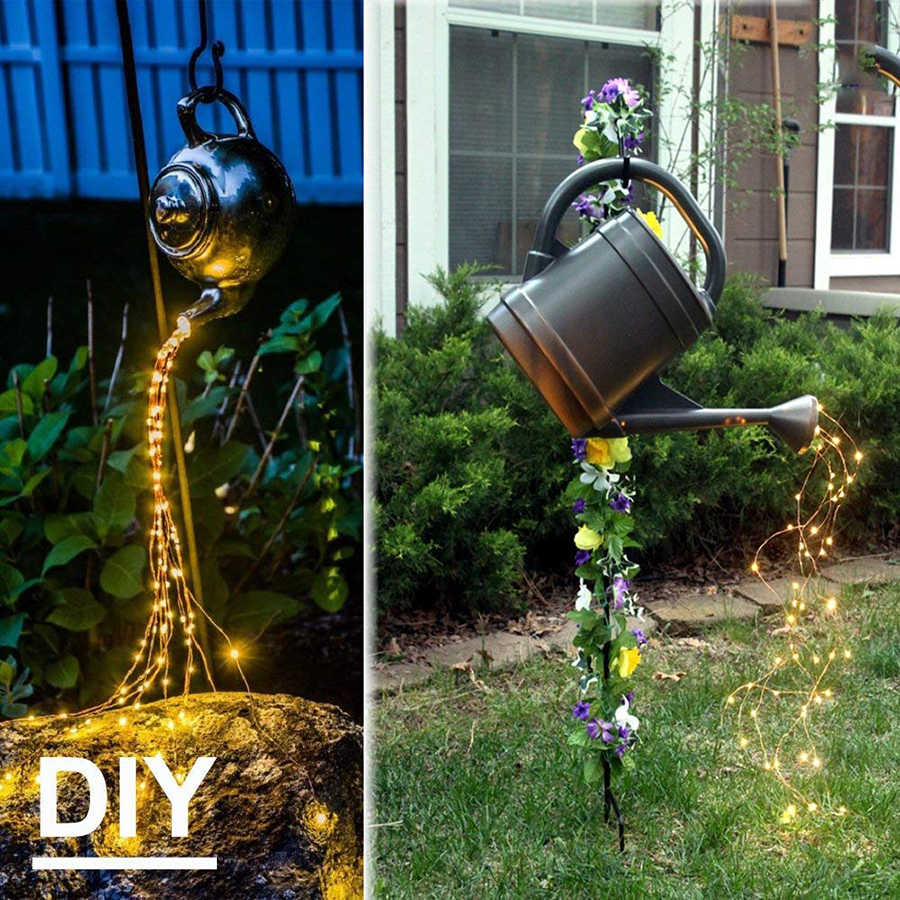 Solar Tuin Licht Led Fairy Gypsophila Boom Waterval Ijspegel Led String Holiday Christmas Party Guirlande Waterdichte Solar Lamp