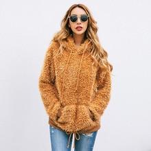 Women Winter Teddy Fleece Sweater Thick Sherpa Fleece Pullov