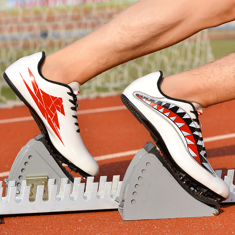 Shoes Spikes Track Sneakers Athlete Field Running Lightweight Racing-Match Unisex