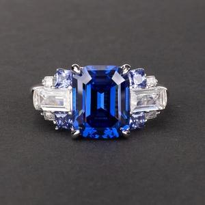 Image 5 - PANSYSEN 100% Bạc 925 Tạo Ra Moissanite Sapphire Đá Quý Cho Nữ, Nhẫn Nữ Cưới Đính Đá Trang Sức Viễn Chí Bảo