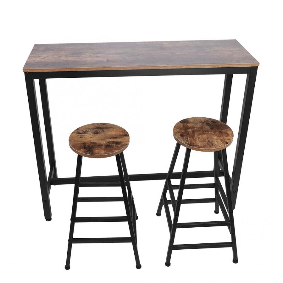 Bar Furniture Pub Height Bar Stool Dining Bistro Combination (1 Table 2 Chairs) Bar Chair Bar Tables  Wood Bar Stool
