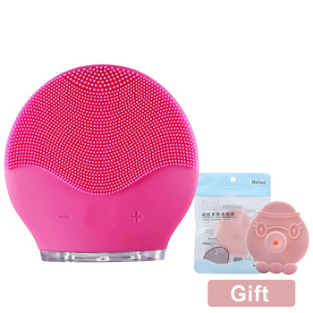Facial Cleansing Brush Silicone Shrinking Pores Oil-control Electric Cleansing Instrument Electric Face Cleansing Brush фото