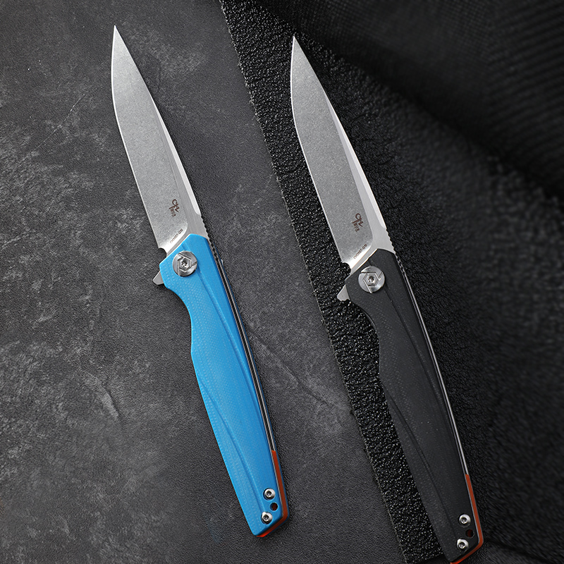 CH original design folding knife CH brand D2 blade pocket knife with G10 handle ball bearing camping EDC hunting tools 3007 image