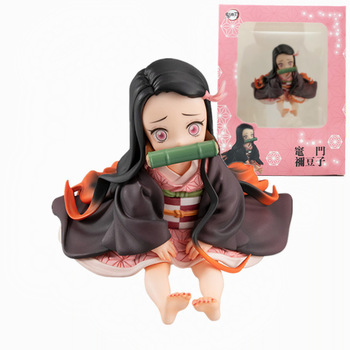 anime figure Demon Slayer Kimetsu no Yaiba Kamado Nezuko Sitting position Action Figure PVC Collectible model toys gifts 6.5CM 2