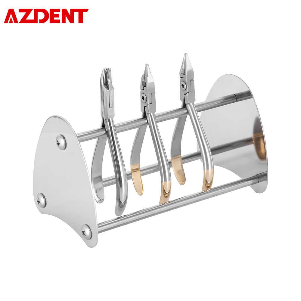 Pinzas de acero inoxidable para dentistas, Perchero de almacenamiento, soporte, pinzas dentales de ortodoncia, estantería, cortador con extremo Distal, estante Posterior