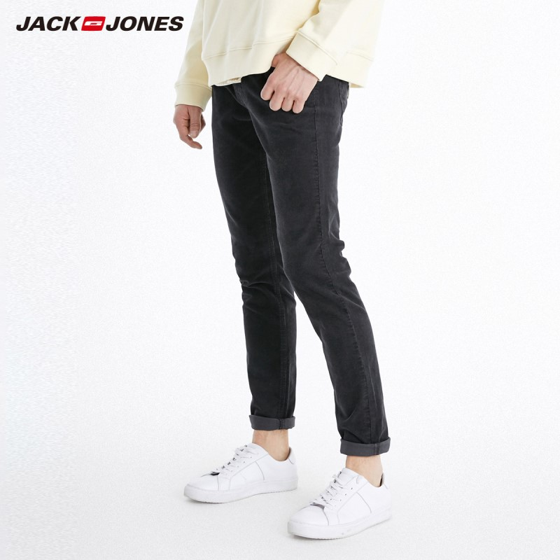 JackJones Winter Stretch Cotton Corduroy Slim Pants Basic Menswear 219114557