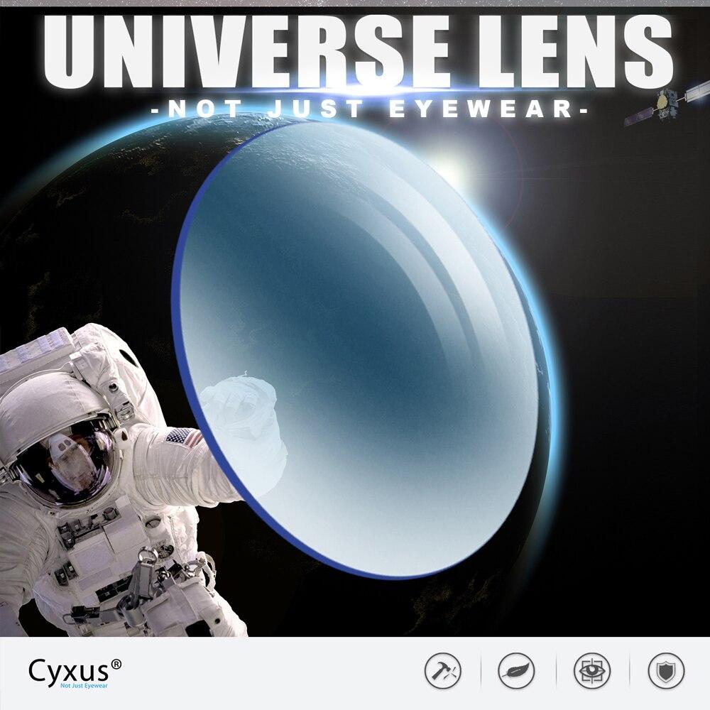 Lentilles de Prescription Cyxus hyperopie myopie Anti lumière bleue antireflet lentille de rayonnement lentilles optiques 1.56 1.61 1.67