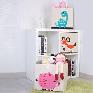 Image 2 - Nouveau 3D Cartoon Animal jouet boîte de rangement pliant bacs de rangement armoire tiroir organisateur vêtements panier de rangement enfants jouets organisateur