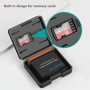 Image 3 - 2 stücke Batterie Fall Batterie TF karte Lagerung Box Feuchtigkeit beweis box Für DJI Osmo Action Sport Kamera Zubehör