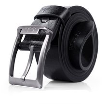 Mens Leather Single Prong Belt Business Fashion Automatic Buckle Genuine Men's Metal Buckle Belts Cow Leather Belts for Men#D(China)