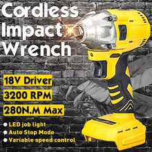 Cordless Bürstenlosen Schlagschrauber Fahrer Ersetzen Für Makita DTW285Z Körper 18V Li-Ion Cordless 1/2'' Elektrische Schlüssel Fahrer