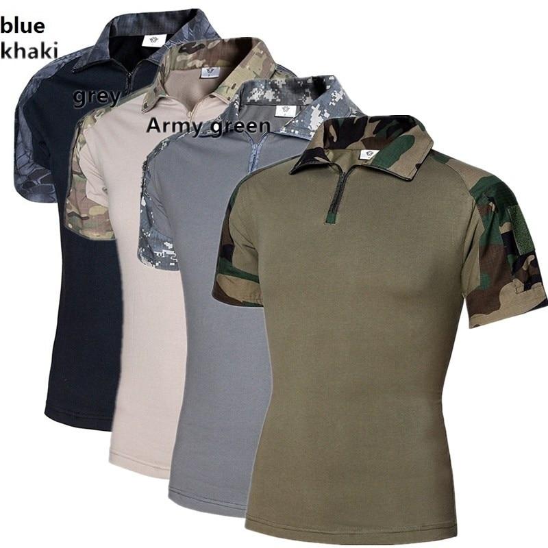 ZOGAA Wew Assault Camouflage Tactical T Shirt Men Short Sleeve US Army Frog Combat T-Shirt Summer Multicam Military Tee Shirts